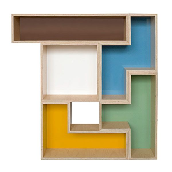 big tet flat13 Trendy Furniture: Modular Tetris Shelves