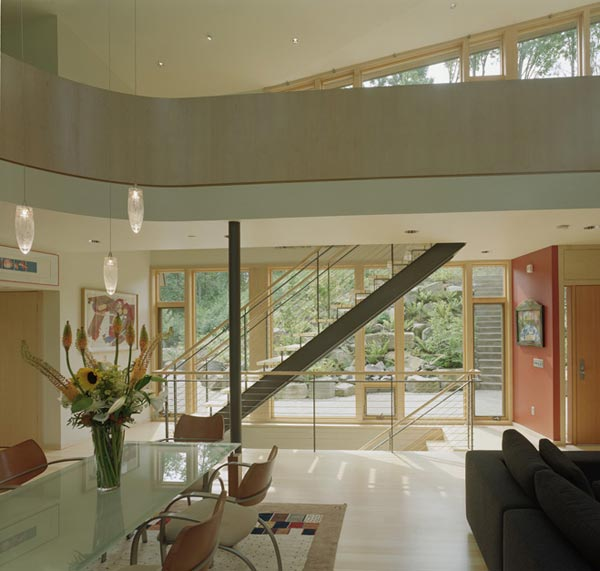kitchel house 6 Beautiful House Surrounded by Forest and Lush Landscape