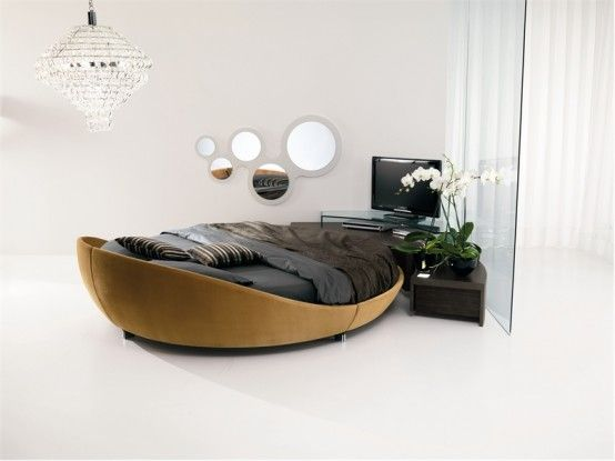 Leather Round Beds by Prealpi 4