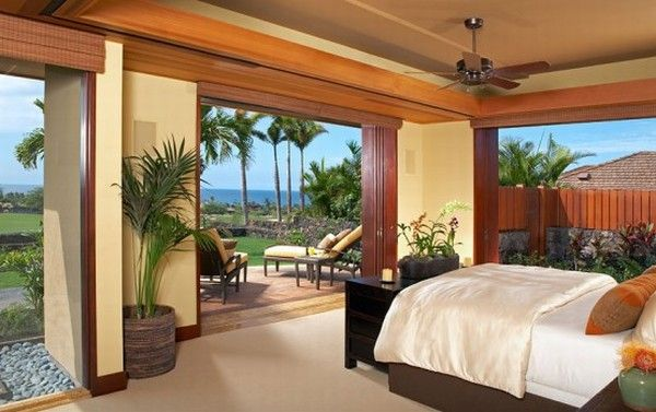 hualalai luxury home design master bedroom 554x348 Luxury Home in Hualalai