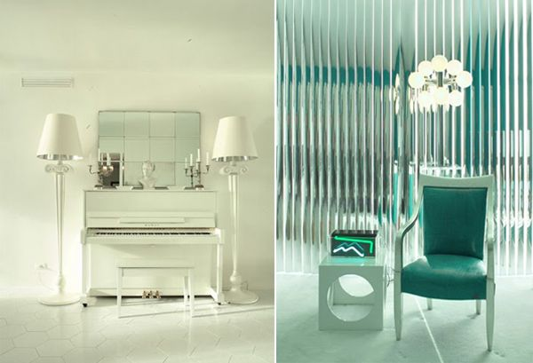keni green2 Color Accents Galore for a Miami Beach Apartment