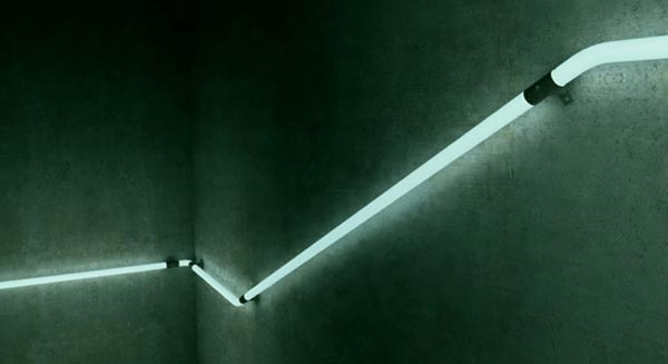 led staircase3 Cool LED Staircase Handrail Concept