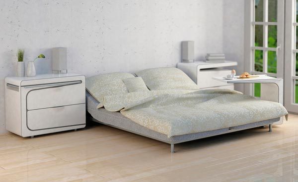 night bed table Interesting & Multifunctional Bedside Cabinet and Table by Maria Cichy