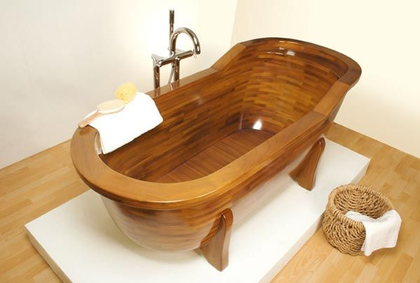 wood bathtub Wood Made Bathtubs by Stolis Turn Your Bathroom Into a Spa