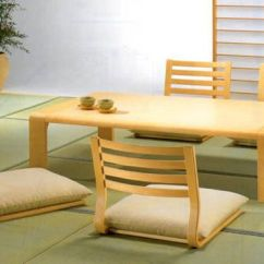 Japanese Table And Chairs Round Bar Height Dining Room Furniture For A Minimalist Style