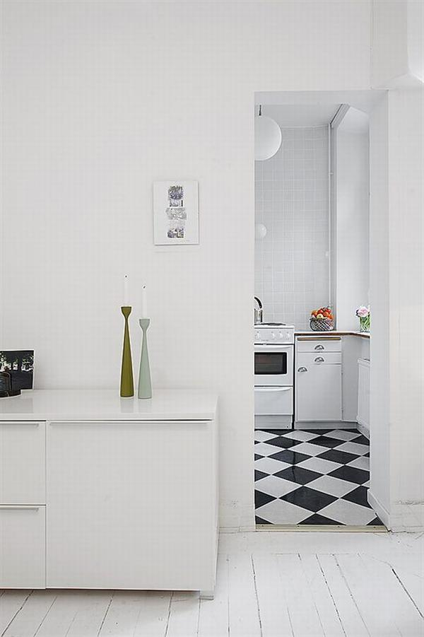clean white small apartment interior design 10 Simple and Elegant White Apartment