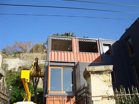 house built from containers1 Amazing House Built from Shipping Containers