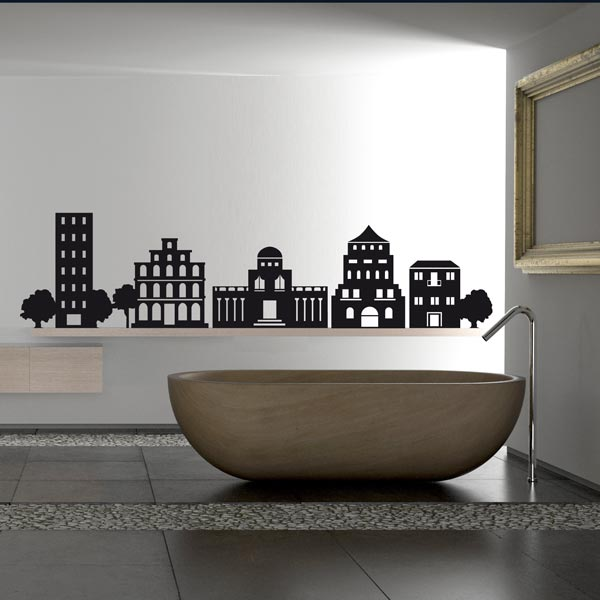 wall stickers ideas bathroom1 Breathe New Life to Your Space with Wall Stickers