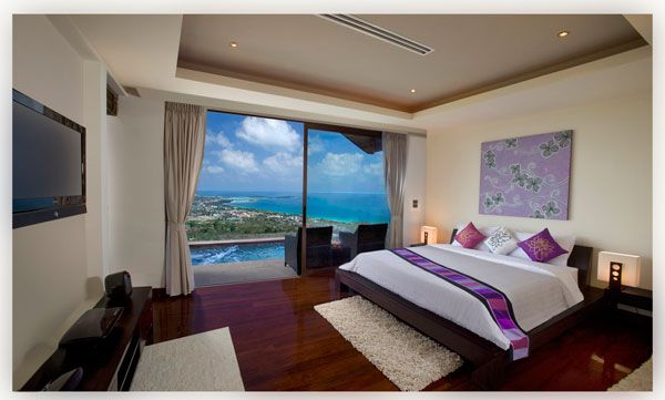 modern bedroom ocean view 23 Amazing Bedrooms with a Panoramic View of the Ocean