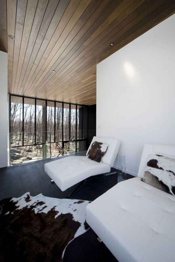 mountain chalet plan quebec canada 6 Modern Mountain Cottage in Quebec, by Blouin Tardif Architecture