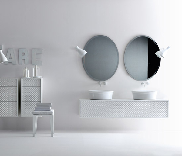 COCO Falper 11 Gorgeous Textured Bathroom Furniture in Black and White from Falper