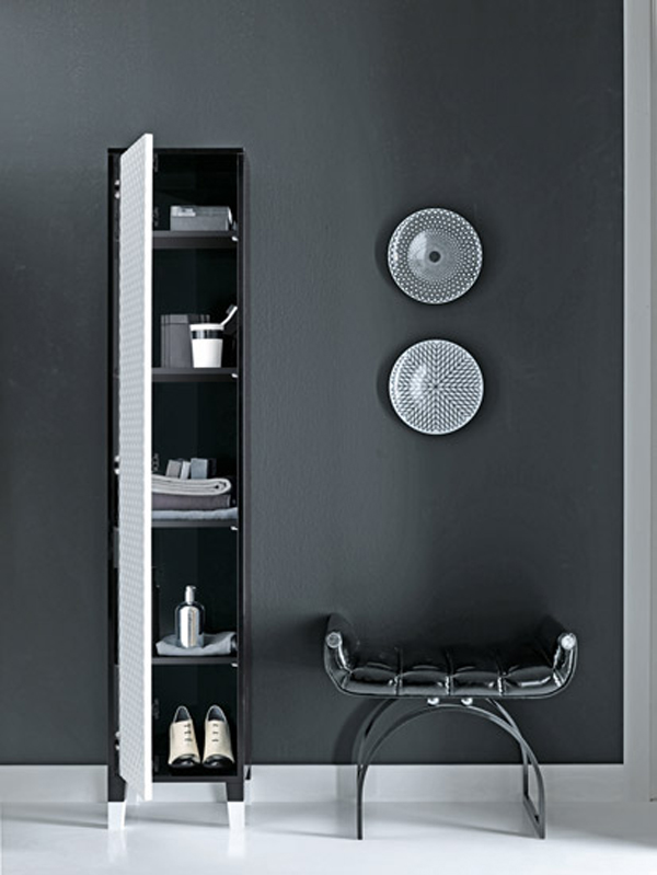 COCO Falper 5 Gorgeous Textured Bathroom Furniture in Black and White from Falper