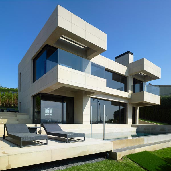 foto villa architecture exterior Single Family House in Mera La Coruña by A cero
