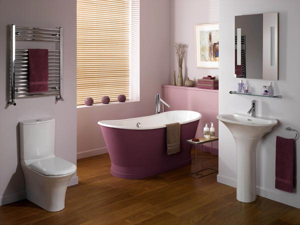 purple decor bathroom home renovations