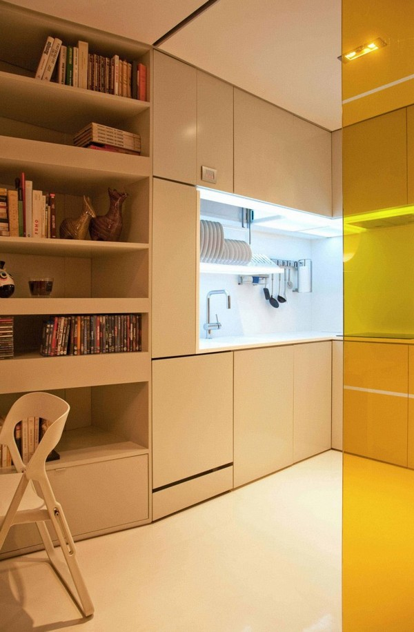 Closet House 03 671x1024 Intelligent and Hi Tech Small Apartment With Mind blowing Features [Video]