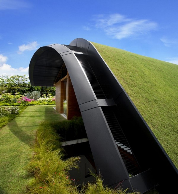 amazing villa Freshome 04 Inspiring Home with One Garden per Level in Singapore