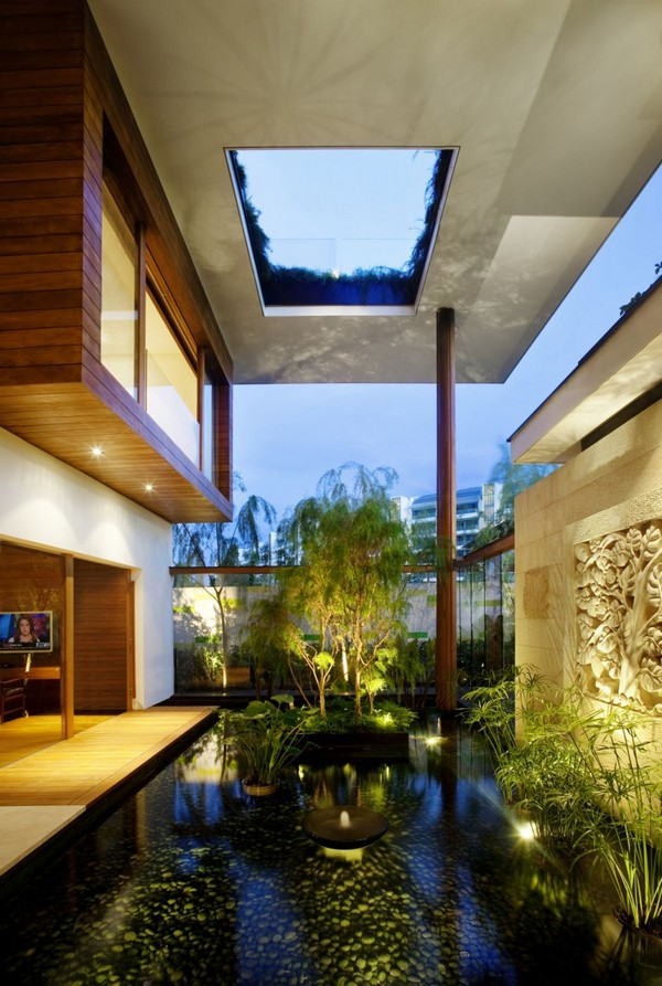 amazing villa Freshome 06 Inspiring Home with One Garden per Level in Singapore