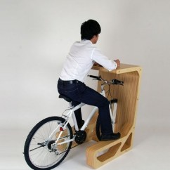 The Bike Chair Ladies Office Park Your Bicycle Indoors And Enjoy Its Function Desk