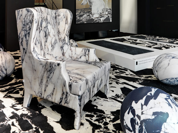 unusual armchair lightweight camping chairs soft marble by maurizio galante freshome com