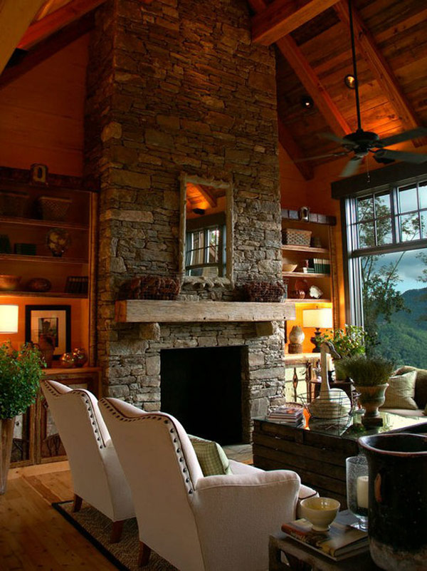 pictures of living rooms with stone fireplaces accent walls ideas for room 30 fireplace a cozy nature inspired home freshome com collect this idea