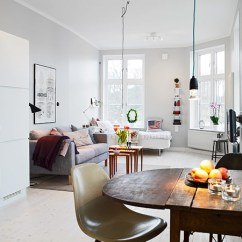 How To Decorate A Very Small Apartment Living Room Colour Schemes With Grey 30 Best Design Ideas Ever Freshome In Gothenburg Showcasing An Ingenious Layout Shop This Look Table Couch Nesting Tables