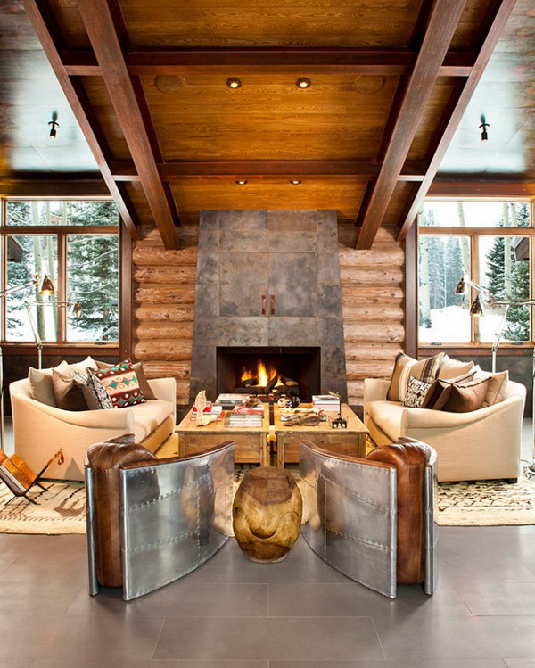 lodge living room furniture small sectional mountain blending rustic and modern details in colorado moody collect this idea