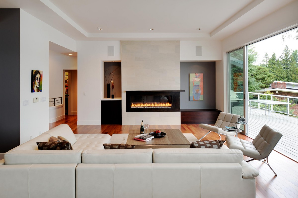 contemporary living rooms with fireplaces room design ideas brown leather sofa 10 of the most common interior mistakes to avoid freshome com collect this idea extension designs white modern fireplace