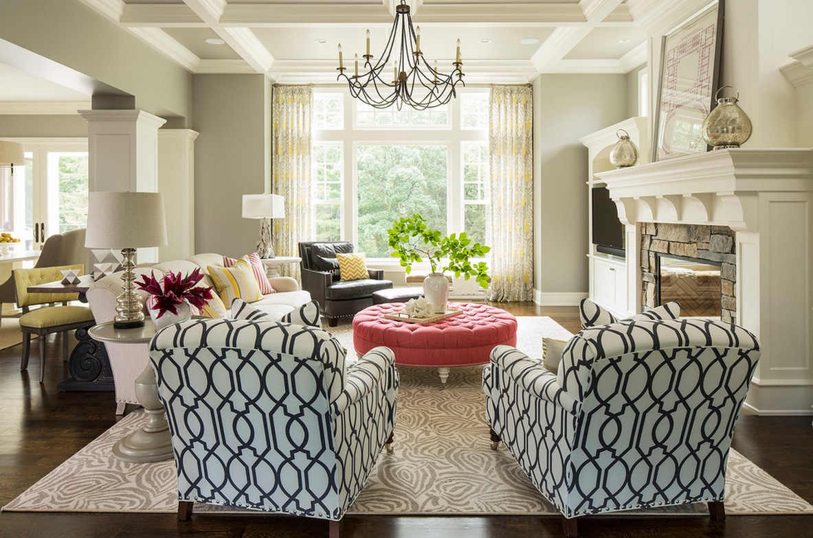 print chairs living room furniture under 500 dollars 10 easy ways to mix and match patterns in your home freshome com focal point