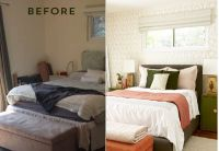 Before and After : Bedroom Makeover with Moss and Coral ...