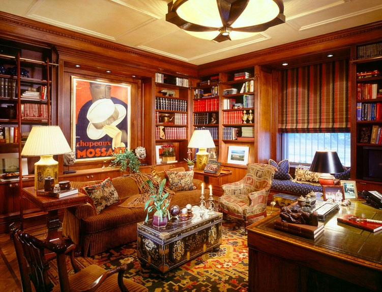 traditional english living room design accent wall ideas for small 30 classic home library imposing style freshome com collect this idea 22
