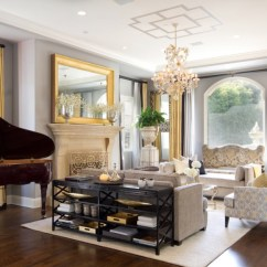 Black And Gold Living Room Ideas Using Carpet Tiles 10 Ways To Add Glitz Your Home Interior Freshome Com Formal Sitting Chandelier