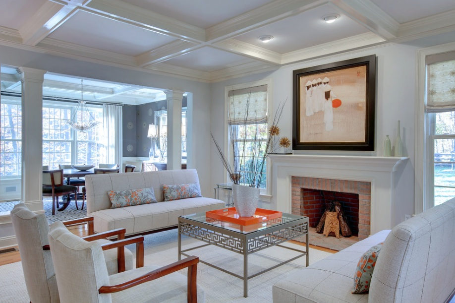 transitional style living room lighting modern design what it is and how to pull off white fireplace chairs sofa