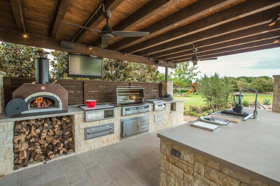 summer kitchen ideas granite beautiful outdoor for freshome com collect this idea pizza oven