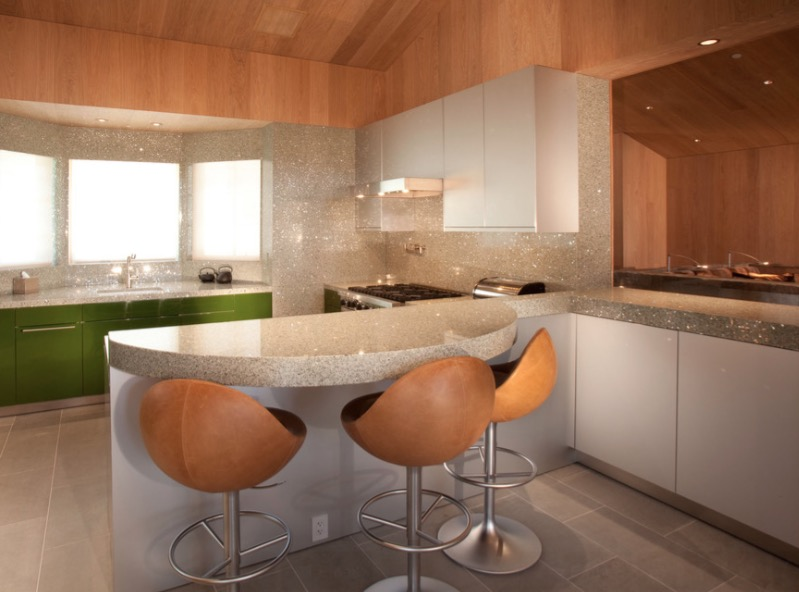 kitchen counter large window curtains countertop ideas 30 fresh and modern looks