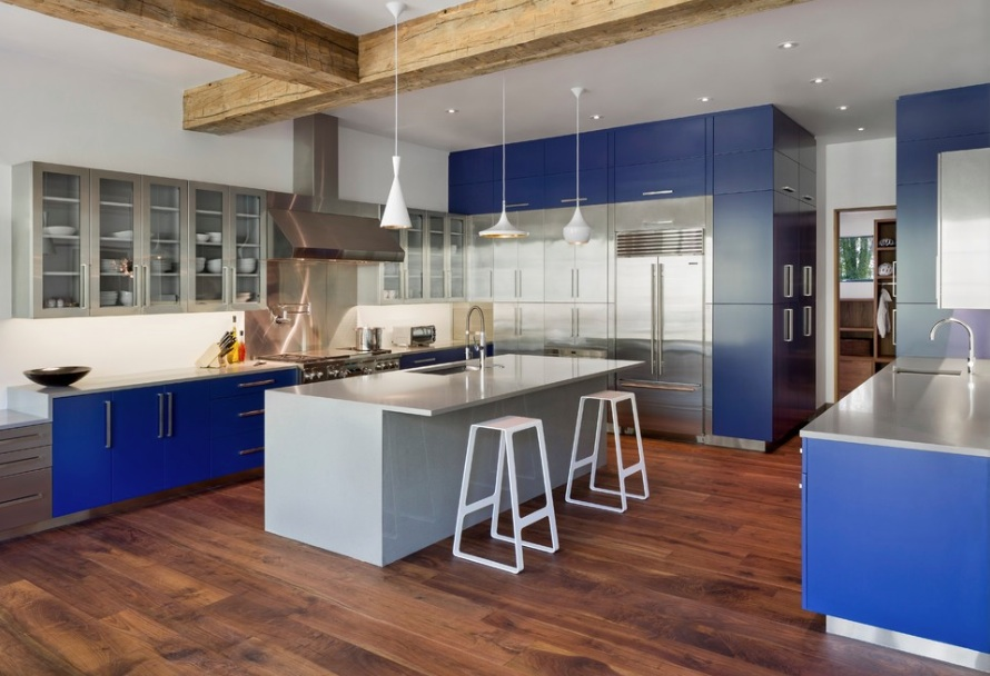 kitchen cabinet color small carts how to paint your cabinets freshome blue