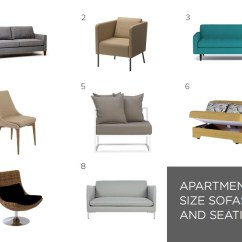 Size Of A Living Room Gray Paint Ideas Space Saving Furniture For Your Small Apartment Numbers Correspond With The Products Listed Below