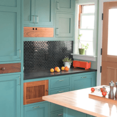 Kitchen Refinishing Ideas Modern Pendant Lighting For Painted Cabinet Freshome Bold Colors