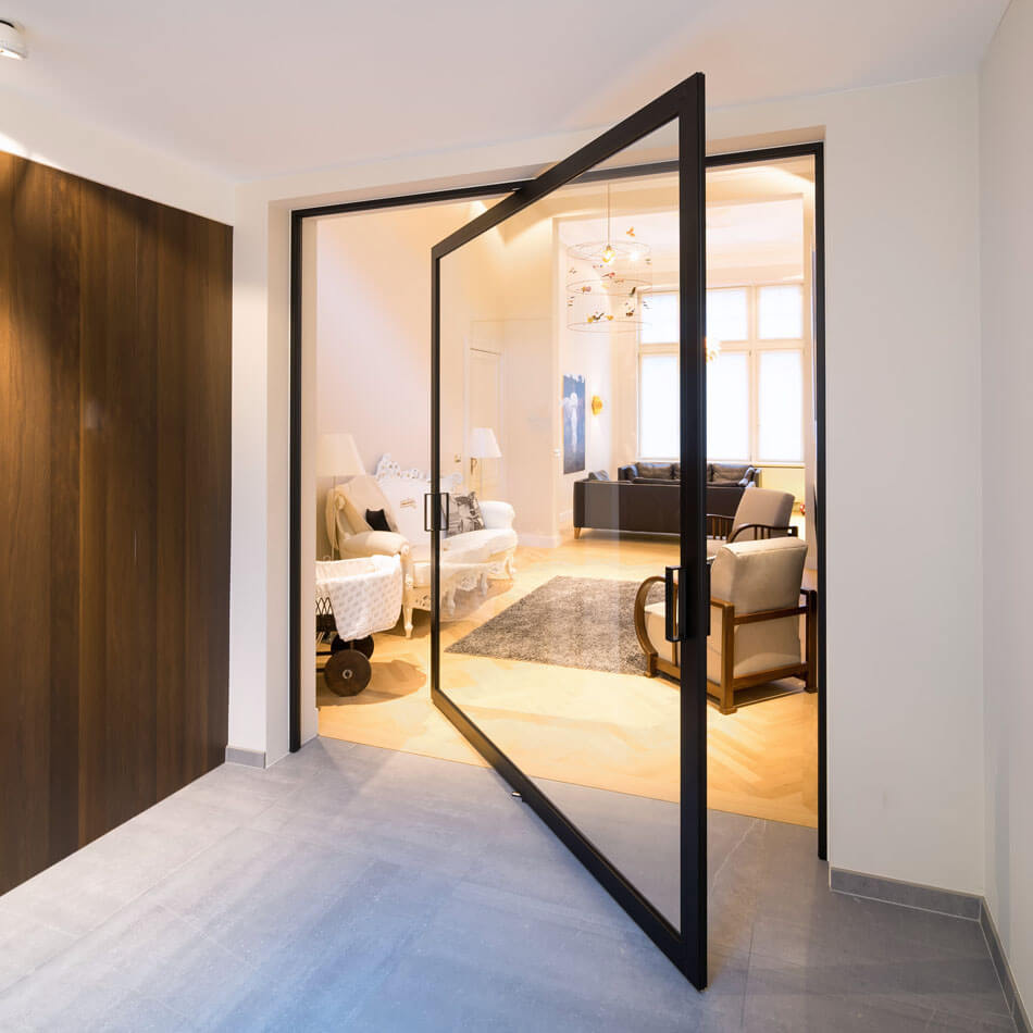 Innovative Pivoting Doors Double as Room Dividers