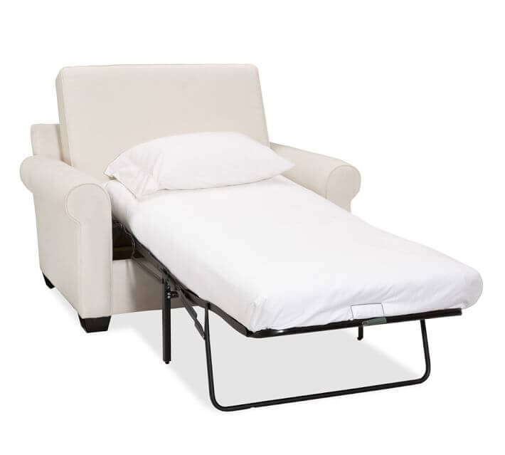 twin bed pull out chair wooden captains bar stools sofa buying guide freshome buchanan roll arm upholstered sleeper o