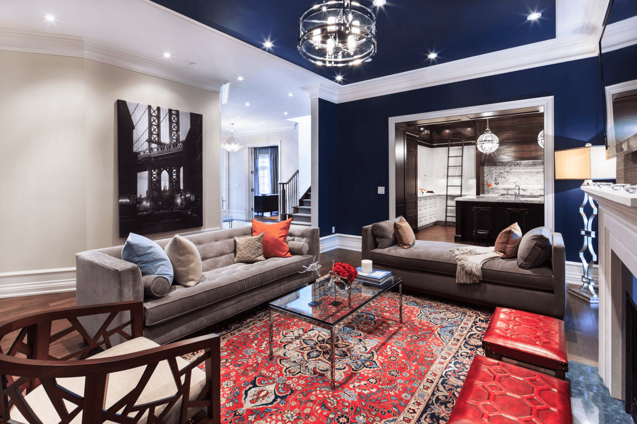 navy blue and red living room ideas rooms 2017 painted ceiling freshome add color drama to your home with these 35