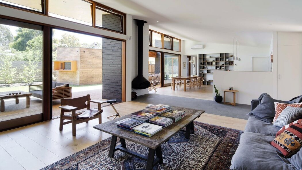 veranda living rooms room wall mirror designs open plan leads to large in australia freshome bright house