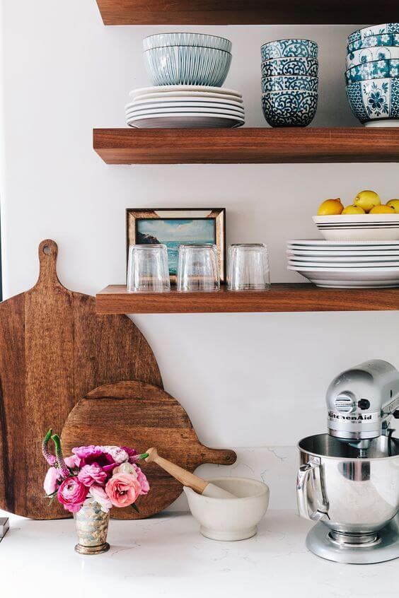 kitchen open shelves boos block island how to achieve and love shelving in your freshome com shelving1