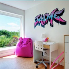 Living Room Desk Curtains Ideas Pictures 30 Back To School Homework Spaces And Study You Ll Love A Cool Teen Space Featuring Graffiti Wall Art Beanbag Small Image Andrew Snow