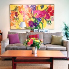Paintings For Living Room Media Furniture The Art Of Wall Modern Decor Ideas And How To Hang Freshome Com