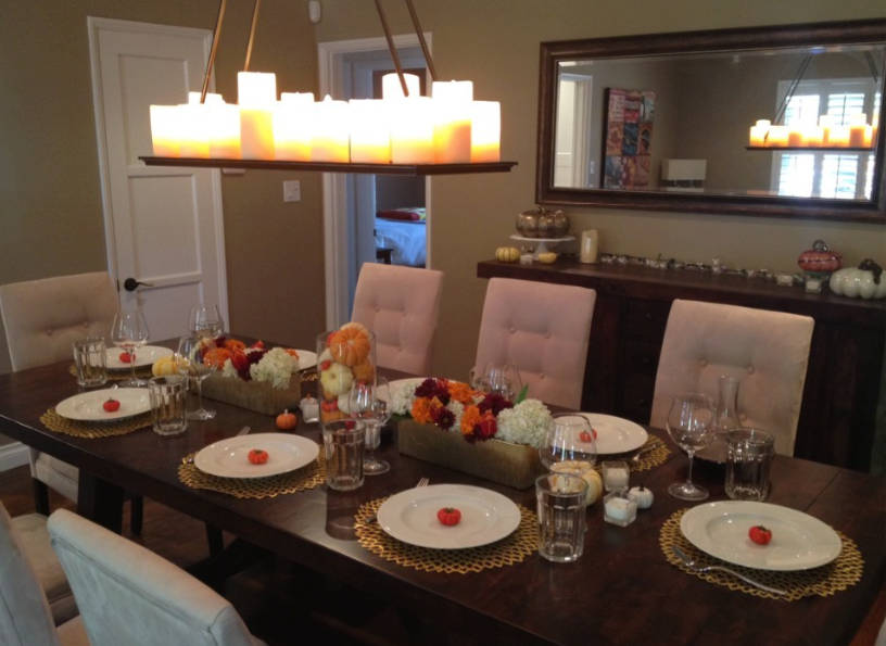 8 thanksgiving table decorating