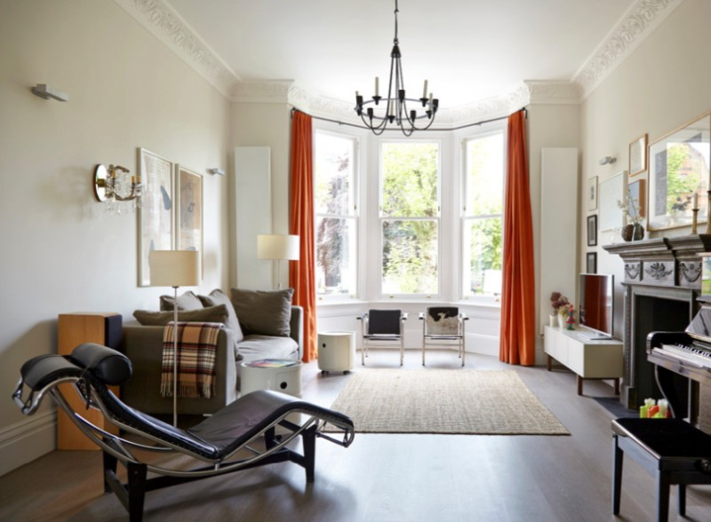 orange living room curtains showpiece how to decorate with stylishly warm up any freshome com