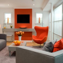 Orange Couch Living Room Ideas Images Of Rooms With Area Rugs How To Decorate Stylishly Warm Up Any Freshome Com Modern Decorating Using