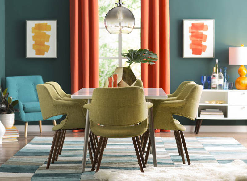 orange living room chair white and gray ideas home for the holidays 15 festive dining chairs to dress up your upholstered retro freshome com