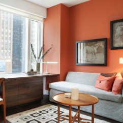 Orange Living Room Designs Blue Accent Wall Ideas How To Decorate With Stylishly Warm Up Any Freshome Com Paint A