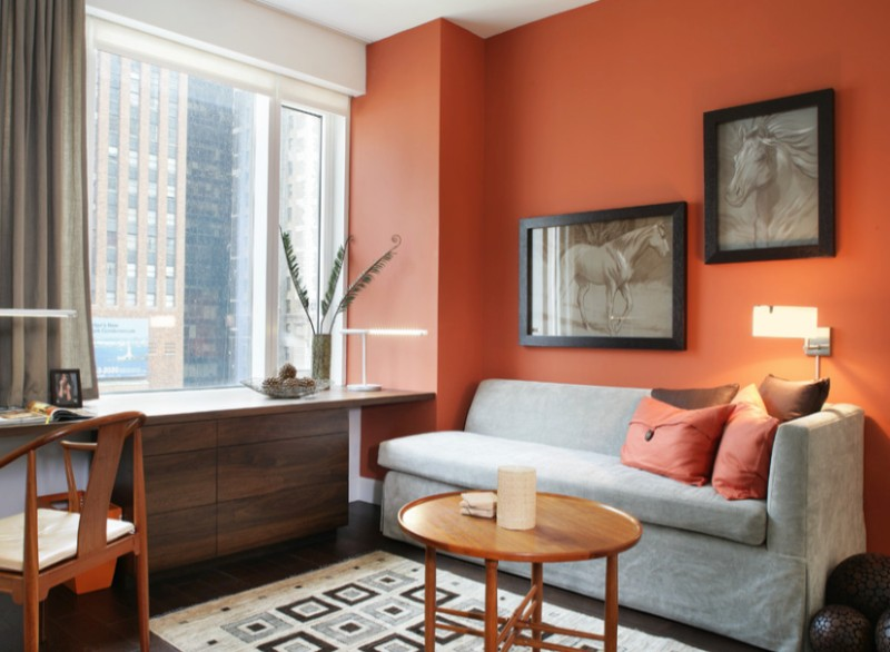 orange living room decorating ideas modern rooms with brown couches how to decorate stylishly warm up any freshome com paint a